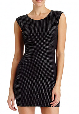 Foiled Patterned Mini Dress at bebe