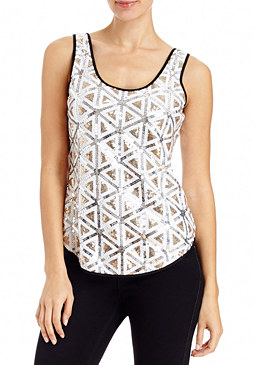 2b Sequin Deco Shell Top