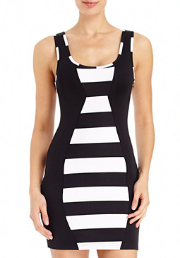 2b Vertical Moto Striped Dress