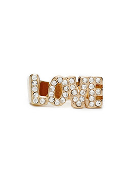 2b LOVE and Rhinestones Ring