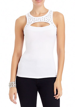 2b Sophie Sequin Trim Tank