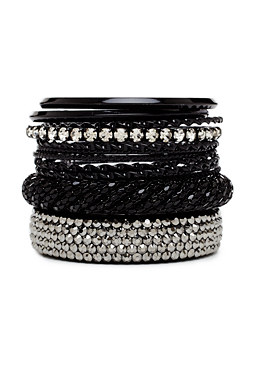 2b Black Bangle Set