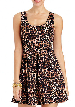 2b Leopard Babydoll Dress