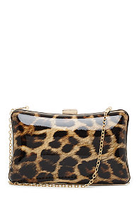 2b Leopard Box Clutch ������