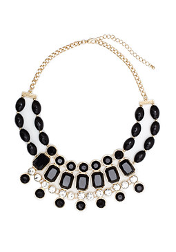2b Black & Gold Gem Necklace