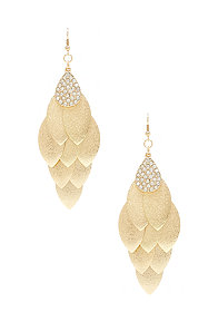 2b Diamond Dust Leaf Earrings