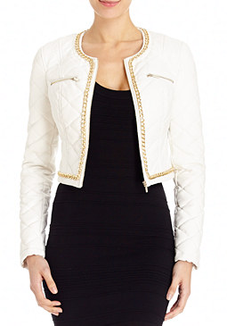 2b Quilted Chain Moto Jacket