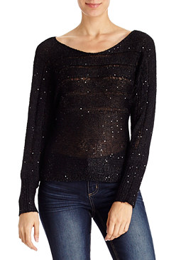2b Stripe Sequin Sweater