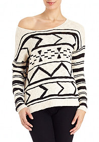 2b Tribal Stripe Sweater