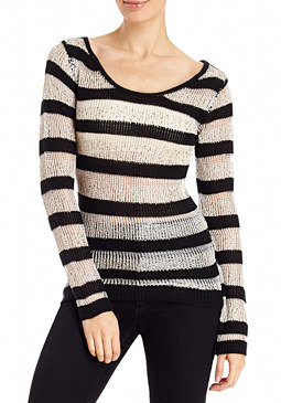 2b Light Shadow Stripe Sweater