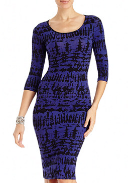 2b 3/4 Sleeve Aileen Midi Dress