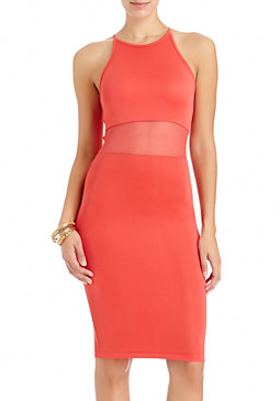 2b Halter Mesh Contrast Dress