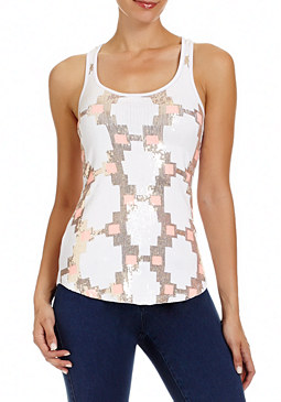 2b Geo Sequin Tank Top�