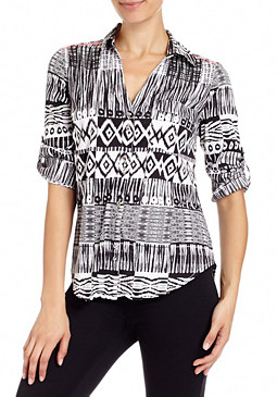 Tribal Nation Fringe Top at bebe