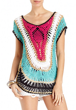 2b Multi Collar Crochet Tunic