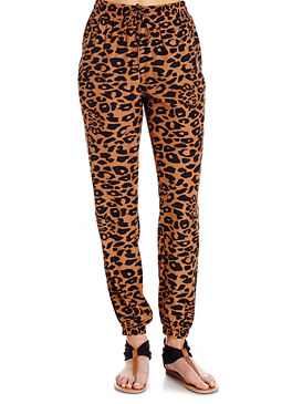 2b Cheetah Casual Carrot Pants