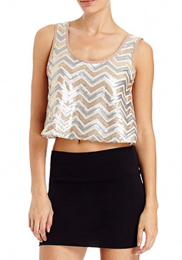 2b Sequin Crop Tank