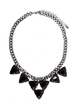 2b Jet Triangle Stone Necklace