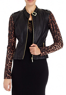 2b Contrasted Sleeve Jacket