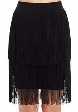 2b Fringe Mini Skirt