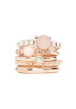 2b Stackable Stone Ring Set
