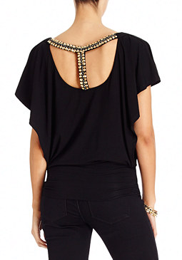 2b Erin Drapey Embellished Top