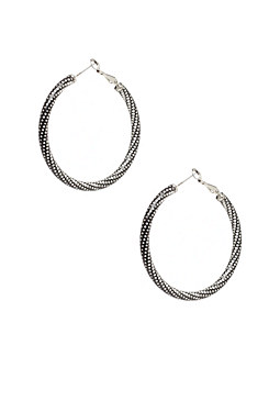 2b Mixed Metal Hoops���