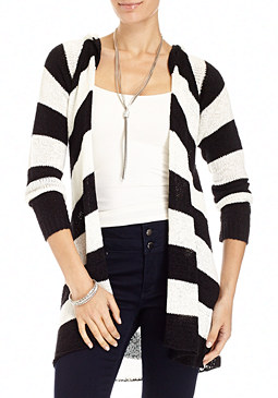 2b Maiter Stripe Long Cardigan