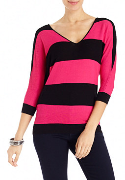 2b 3/4 Colorblock Dolman Top