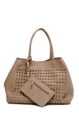 Studded Carryall Tote at bebe