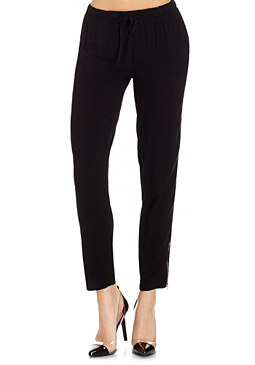2b Black Challis Pants