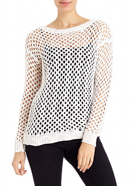 2b Open Weave Metallic Sweater