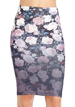 Midnight Rose Midi Skirt at 2b