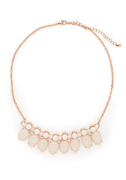2b Rose Gold On White Necklace