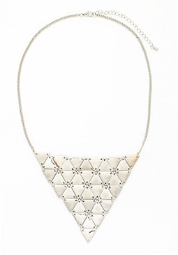 2b Triangle Plaque Necklace