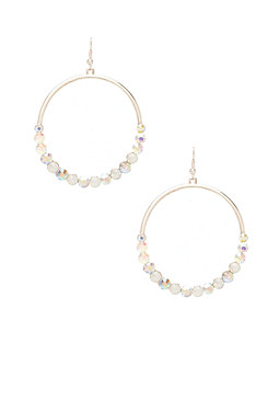 2b Rhinestone Beaded Hoops�