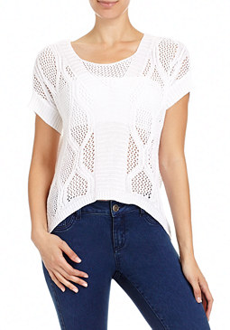 Crochet Hi-Lo Top at bebe