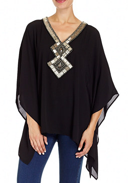 2b Solid Embellished Tunic