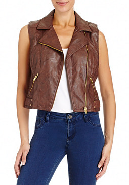 2b Petra Faux Leather Vest