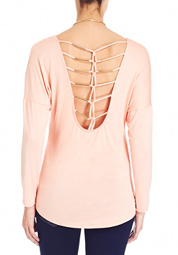 2b Cage Back Dolman Top