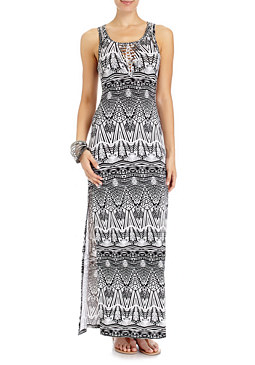 2b Braided Tribal Maxi Dress