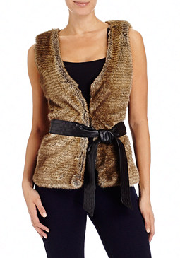 2b Sammi Sweater Fur Vest