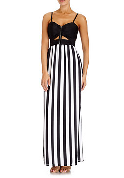 2b Striped Maxi Dress
