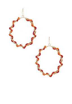 2b Beaded Hoop Earrings