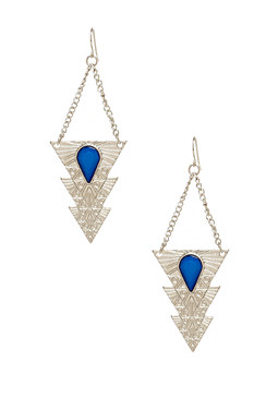 2b Tribal Stone Drop Earrings