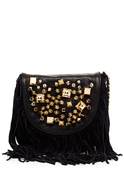 2b Studded Fringe Crossbody