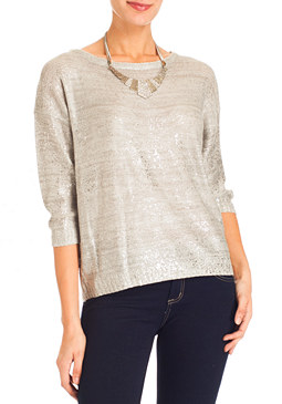 Trickle Foil Top at bebe