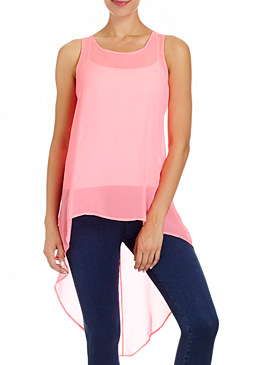 NEON HI-LO TANK TOP at bebe