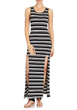 2b Double Slit Maxi Dress