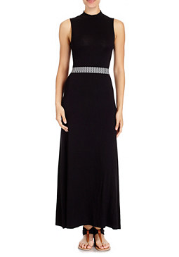 2b Mock Neck Maxi Dress